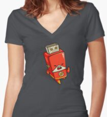 Flash Drive Women's Fitted V-Neck T-Shirt