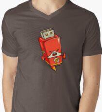 Flash Drive Men's V-Neck T-Shirt