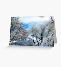 Frozen Trees 2 Greeting Card