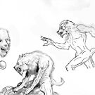 lycanthrope sketches by mattycarpets
