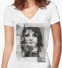kurt cobain by byer Women's Fitted V-Neck T-Shirt