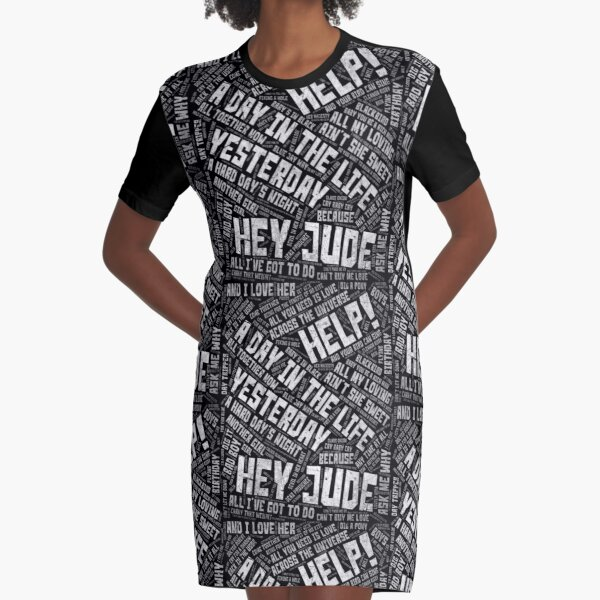 All Beatles Songs Graphic T-Shirt Dress