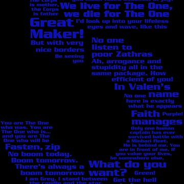 Babylon 5 Quotes - Blue by B5designs
