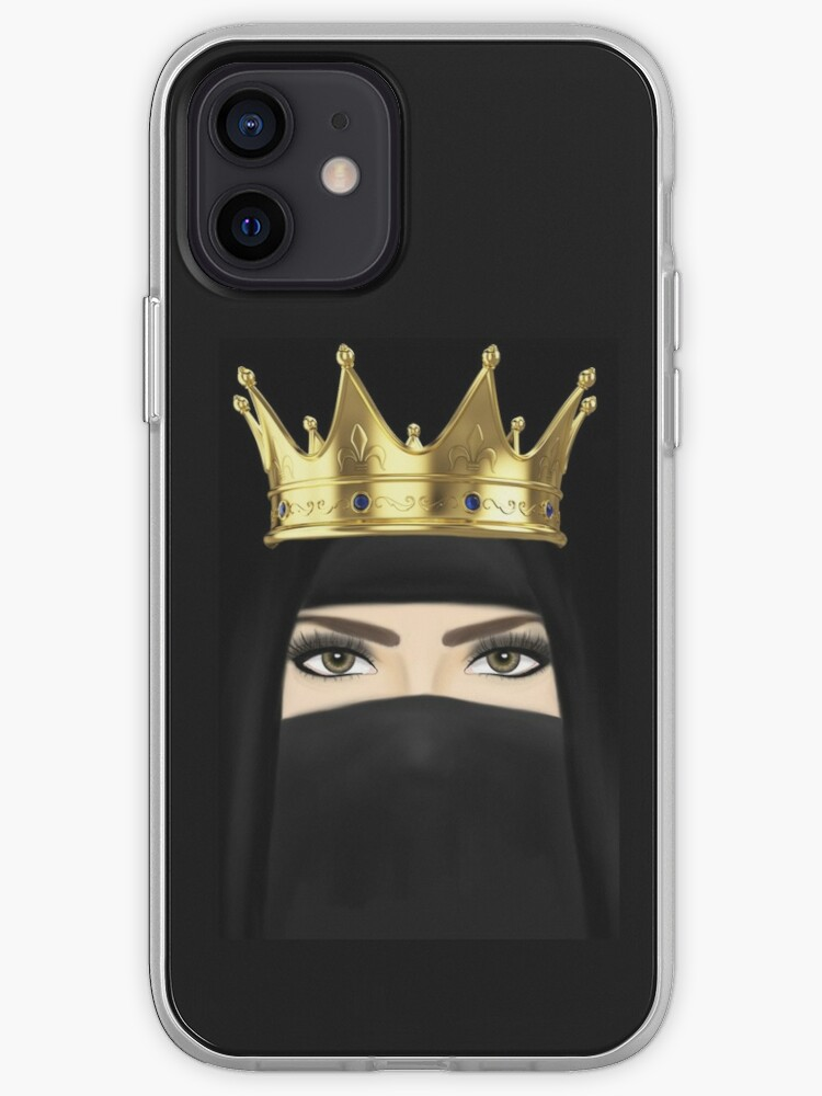 Niqab Crown Hijab Beautiful Girl Drawing Iphone Case Cover By Imanitasong Redbubble Flower crown hijab tutorial (cover front and back) | nadia syamila. redbubble
