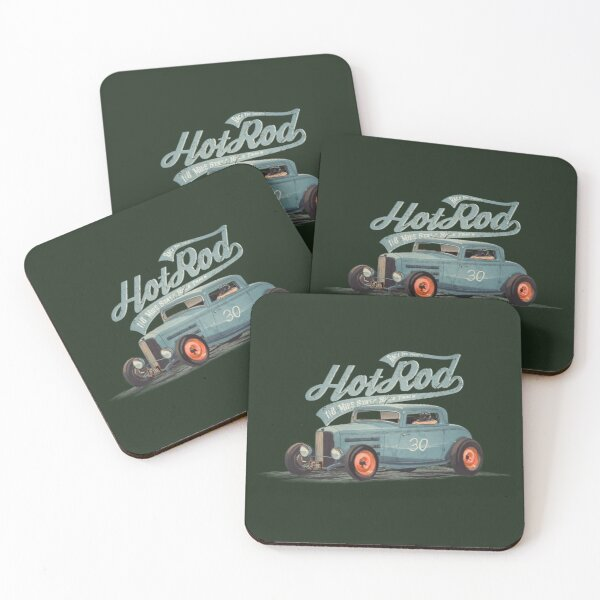 Hot Rod - Race The Devil Coasters (Set of 4)