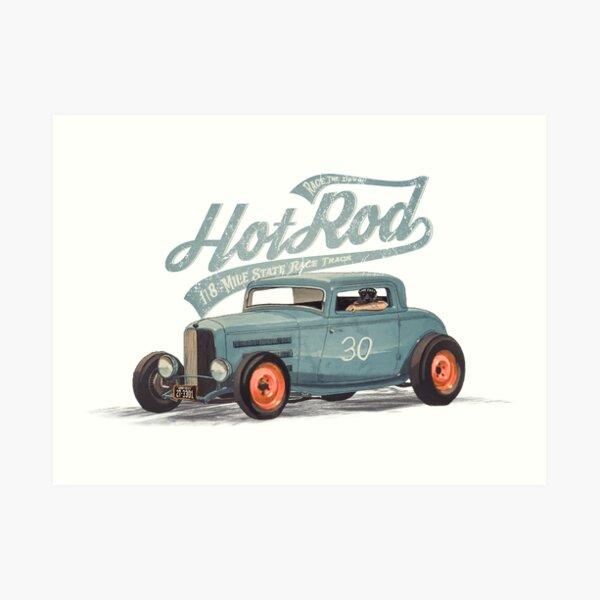 Hot Rod - Race The Devil Art Print