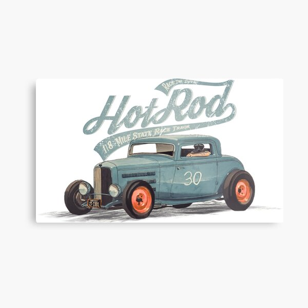 Hot Rod - Race The Devil Metal Print