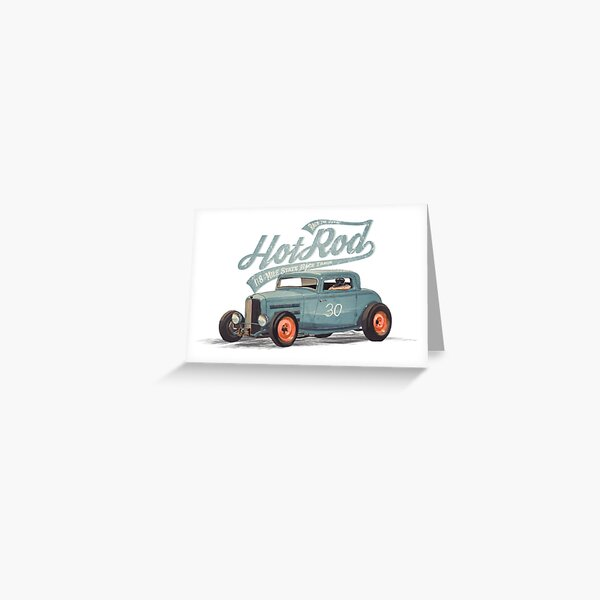 Hot Rod - Race The Devil Greeting Card