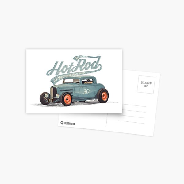 Hot Rod - Race The Devil Postcard