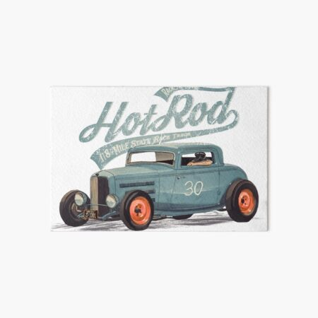 Hot Rod - Race The Devil Art Board Print