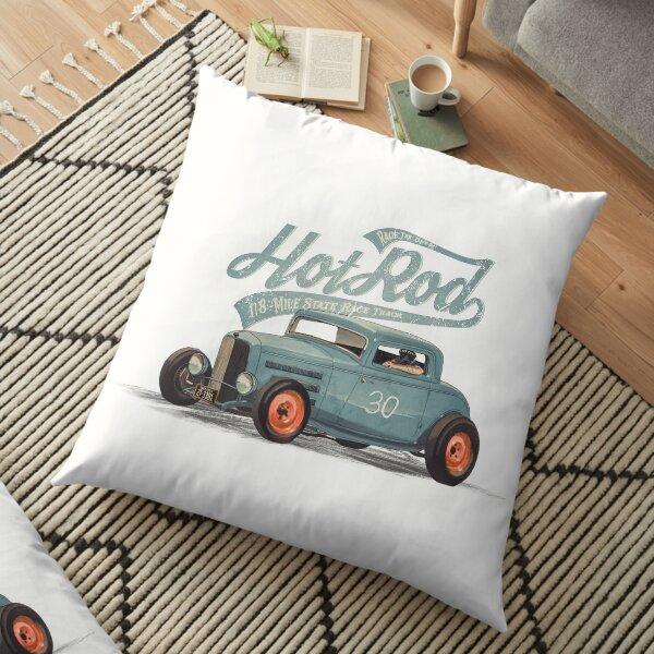 Hot Rod - Race The Devil Floor Pillow