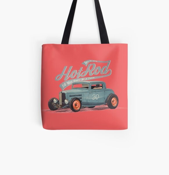Hot Rod - Race The Devil All Over Print Tote Bag