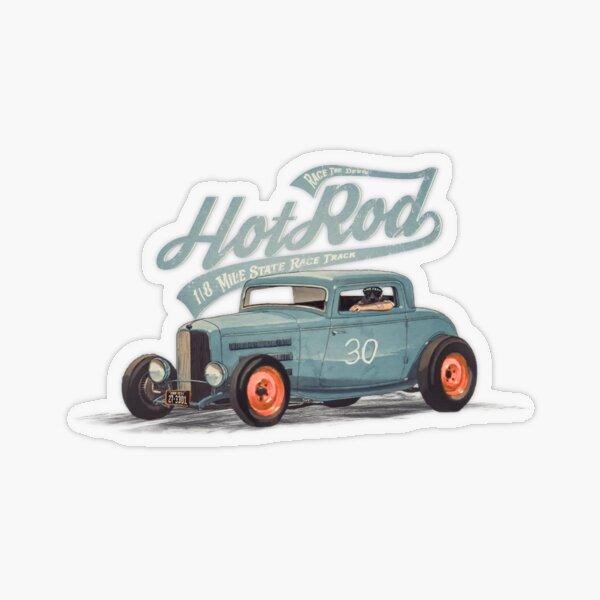 Hot Rod - Race The Devil Transparent Sticker
