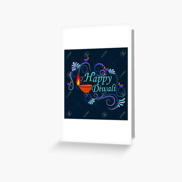 happy diwali dijain Greeting Card