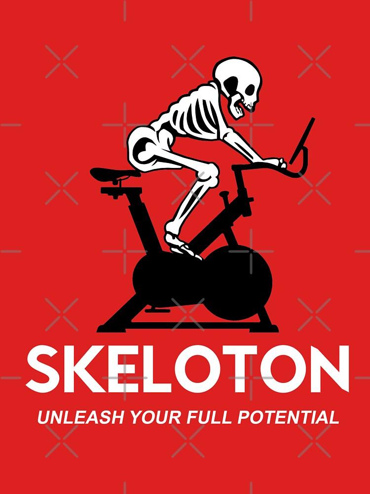 Skeleton  - Peloton parody by goodtogotees