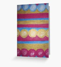 Beads in pastel Greeting Card