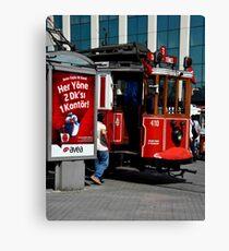 Istanbul Trolley Canvas Print