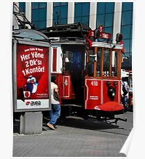 Istanbul Trolley Poster