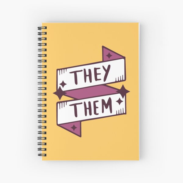 They / Them (Non-binary) Spiral Notebook