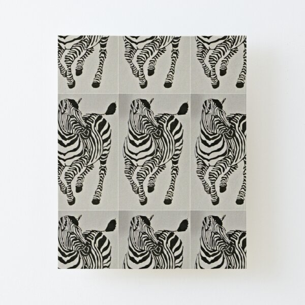 B&W Zebra Canvas Mounted Print
