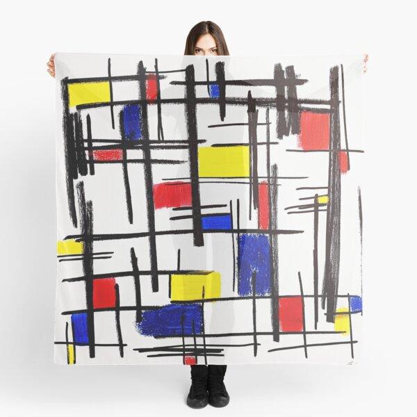 Mondrian Minimalist De Stijl Modern Art © epitomegirl Scarf