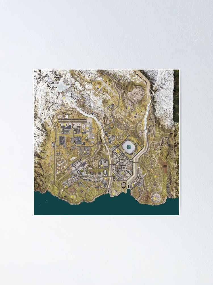 Cod Warzone Map Poster By Dustydinermerch Redbubble