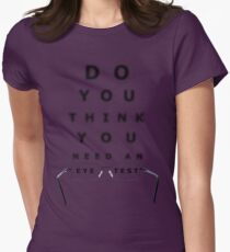 Eye Test Chart Womens Fitted T-Shirt