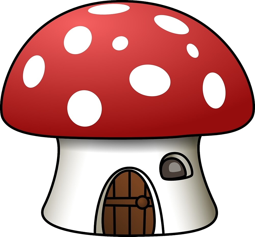 Mushroom house - red and white by mosfunky