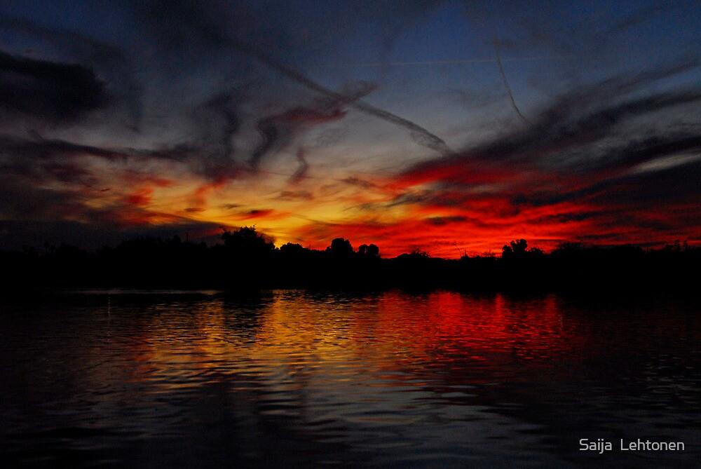 Red Hot Sky  by Saija  Lehtonen
