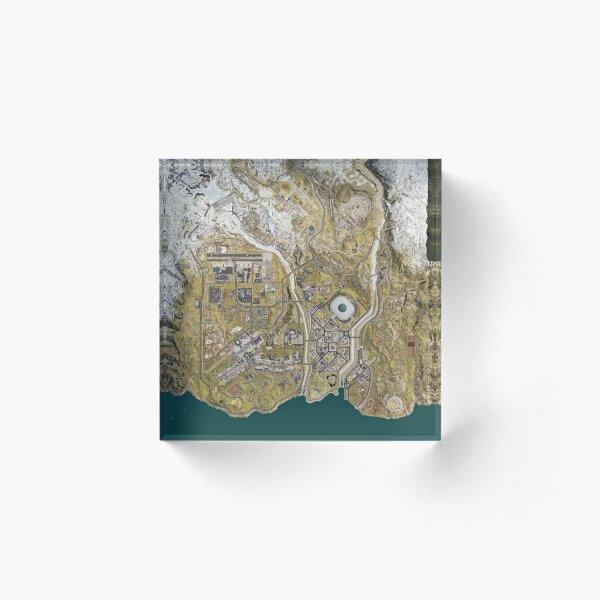 COD WARZONE MAP Acrylic Block