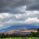 The Green Mountains Under Cloudy Skies by Murph2010