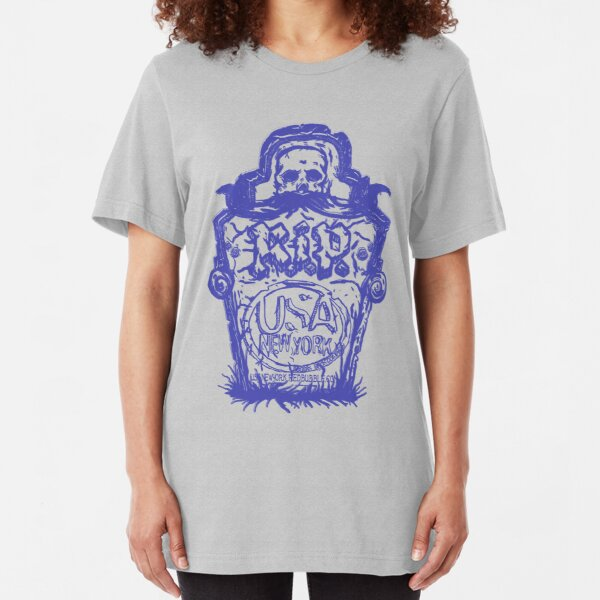 grave stone by rogers bros Slim Fit T-Shirt