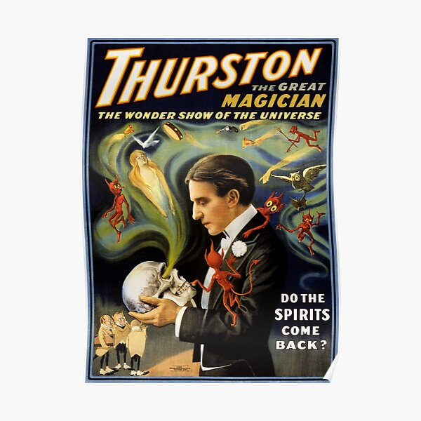 Thurston the great magician 1915 Vintage Poster Poster