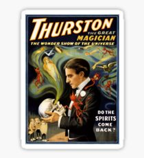 Thurston the great magician 1915 Vintage Poster Sticker
