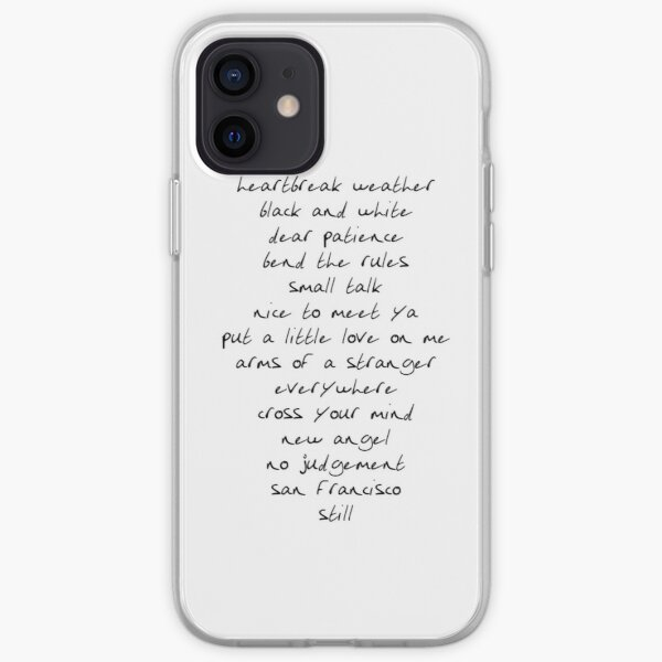 Heartbreak Weather Tracklist Niall Horans Handwriting Black iPhone Soft Case