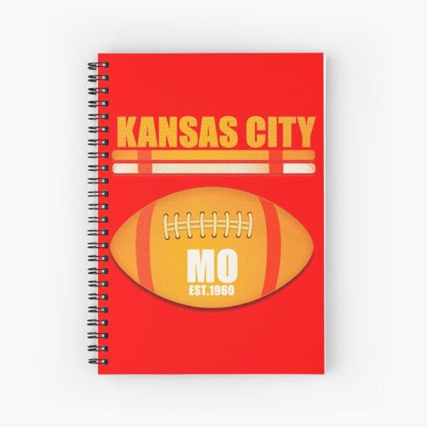 Kansas City Missouri Football Design Spiral Notebook