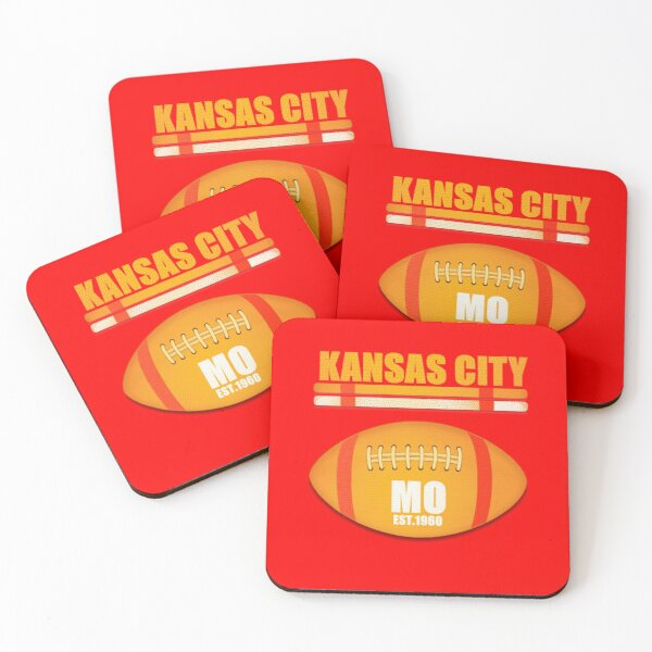 Kansas City Missouri Football Design Coasters (Set of 4)
