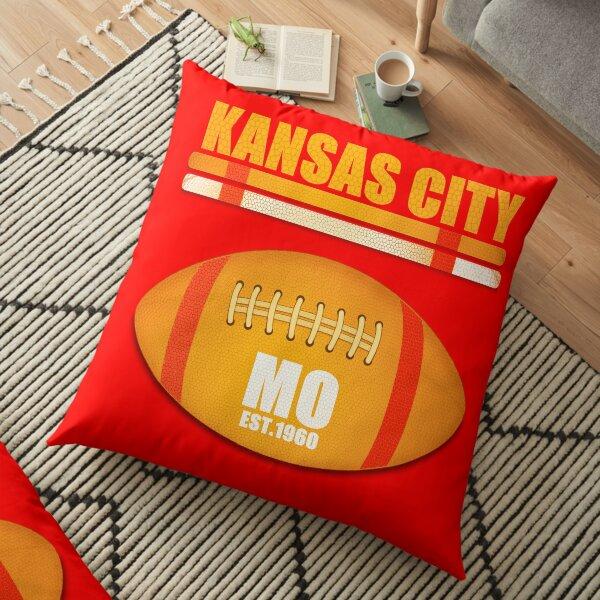 Kansas City Missouri Football Design Floor Pillow
