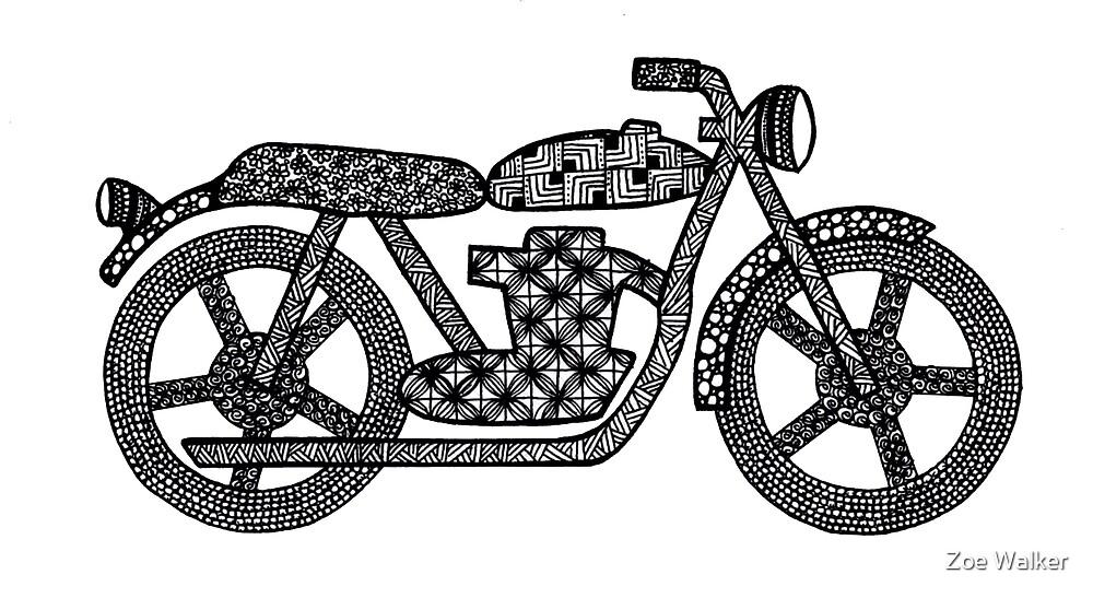 Patterned Motorbike by Zoe Walker