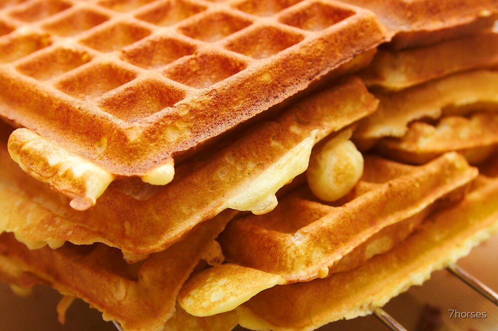 Baking Brussels Waffles by 7horses