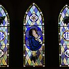 Sevenhill Jesuit Church, college and winery - chapel windows (Clare Valley, South Australia) by BronReid