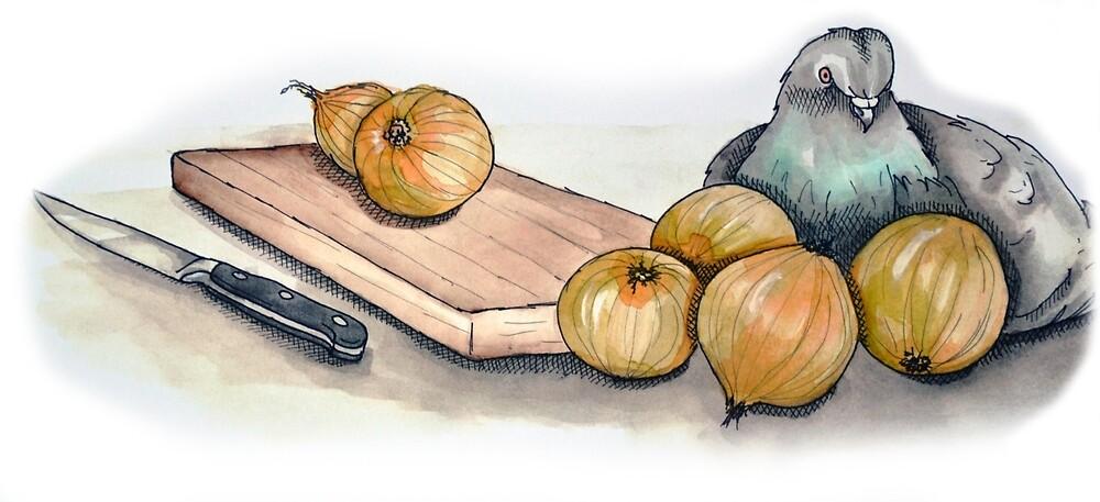 about pigeons and onions part 2 by Rebekka  Schönefuß