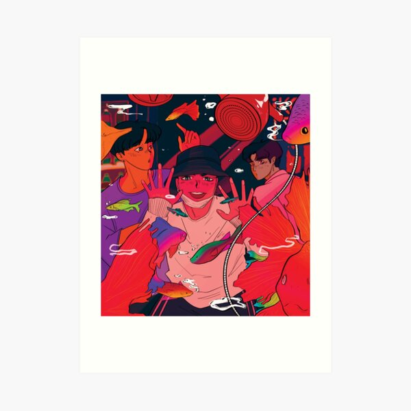 fish tales - iKON Junhoe, Donghyuk & Chanwoo  Art Print