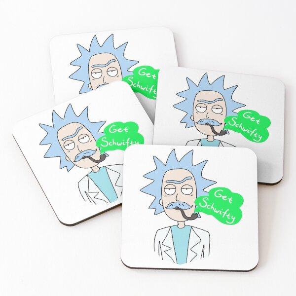Rick  smoking a pipe Coasters (Set of 4)