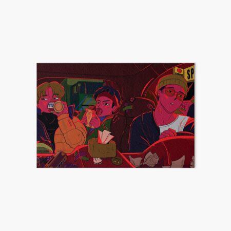 heavy traffic - iKON Bobby, Jinhwan & Yunhyeong Art Board Print