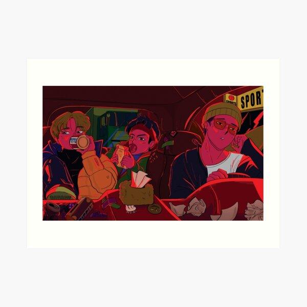 heavy traffic - iKON Bobby, Jinhwan & Yunhyeong Art Print