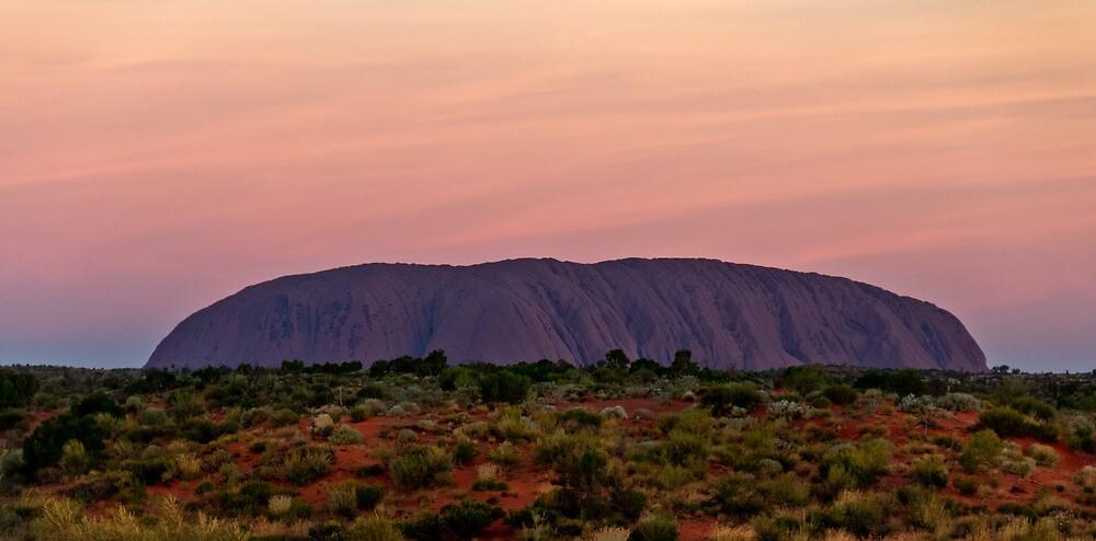 Uluru, Ayers Rock, Australia Sunset by Russell Charters
