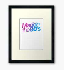 Made in the 80s - Helvetica Framed Print