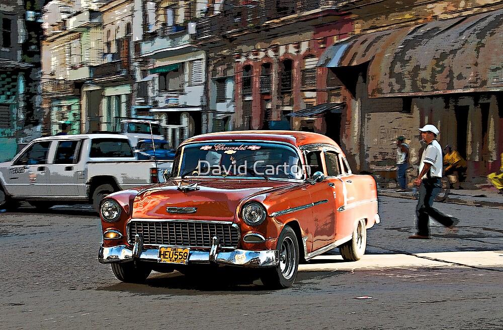 Rush hour, Havana, Cuba by David Carton