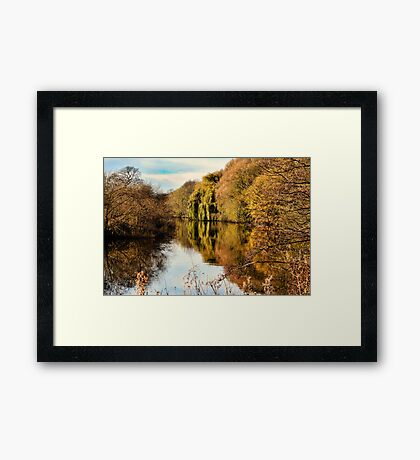 The River Aire in Autumn Framed Print